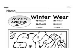 Third Grade Addition Worksheets Worksheet #93