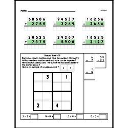 Free Third Grade Addition PDF Worksheets Worksheet #31