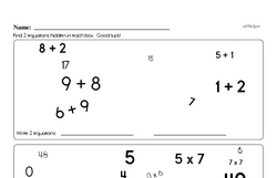 Free Third Grade Addition PDF Worksheets Worksheet #10