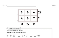 Free Third Grade Addition PDF Worksheets Worksheet #35