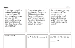 Free Third Grade Addition PDF Worksheets Worksheet #14