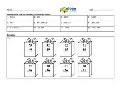 2nd Quarter Math Assessment for Third Grade - Few Mixed Review Math Problem Pages