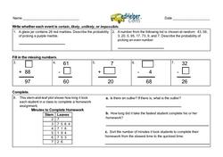 3rd Quarter Math Assessment for Third Grade - Few Mixed Review Math Problem Pages