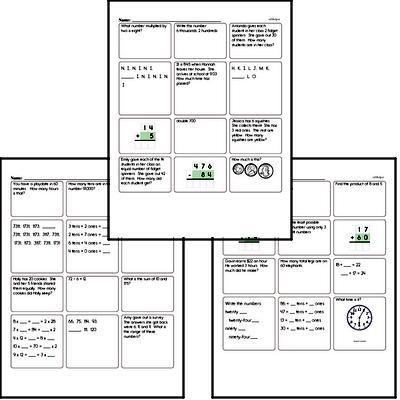 Start of the Year Third Grade Math Assessments