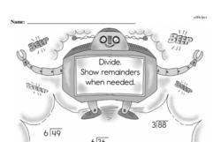 Third Grade Division Worksheets - Division with Remainders Worksheet #1
