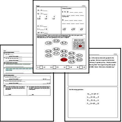 Division Mixed Math PDF Workbook