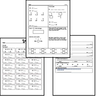 Division Mixed Math PDF Workbook (all teacher worksheets - large PDF)