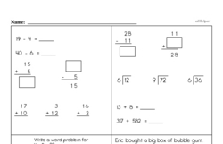 Division Worksheets - Free Printable Math PDFs Worksheet #38