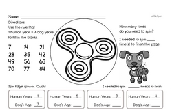 Fun Multiples of 7 Enrichment Page (easier)