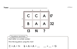Solve for the Unknowns (easier)