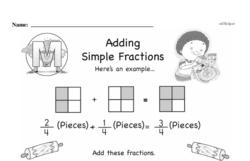 Third Grade Fractions Worksheets - Adding Fractions Worksheet #15