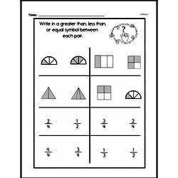 Third Grade Fractions Worksheets - Comparing Fractions Worksheet #4