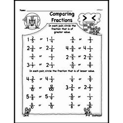 Third Grade Fractions Worksheets - Comparing Fractions Worksheet #8