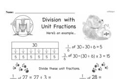 Free Third Grade Fractions PDF Worksheets Worksheet #1