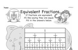 Third Grade Fractions Worksheets - Equivalent Fractions Worksheet #6