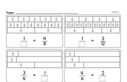 Third Grade Fractions Worksheets - Equivalent Fractions Worksheet #1