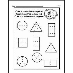 Free Third Grade Fractions PDF Worksheets Worksheet #12