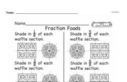 Free Third Grade Fractions PDF Worksheets Worksheet #9