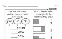 Free Third Grade Fractions PDF Worksheets Worksheet #29