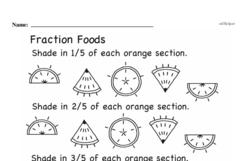 Free Third Grade Fractions PDF Worksheets Worksheet #21