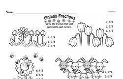 Free Third Grade Fractions PDF Worksheets Worksheet #24