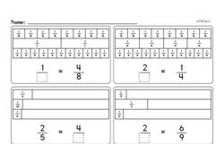 Third Grade Fractions Worksheets - Fractions on a Number Line Worksheet #1