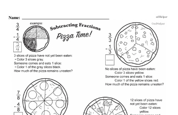 Fractions - Subtracting Fractions Workbook (all teacher worksheets - large PDF)