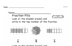 Free Fraction PDF Math Worksheets Worksheet #130