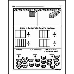 Free Third Grade Fractions PDF Worksheets Worksheet #53
