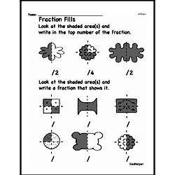 Free Fraction PDF Math Worksheets Worksheet #5