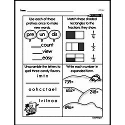 Free Third Grade Fractions PDF Worksheets Worksheet #45