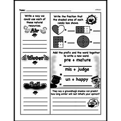 Free Third Grade Fractions PDF Worksheets Worksheet #48