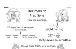 Free Third Grade Fractions PDF Worksheets Worksheet #3