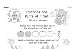 Free Third Grade Fractions PDF Worksheets Worksheet #7