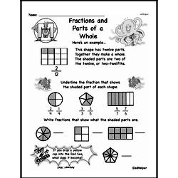 Free Third Grade Fractions PDF Worksheets Worksheet #8