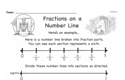 Free Third Grade Fractions PDF Worksheets Worksheet #9