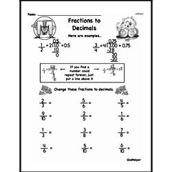 Free Third Grade Fractions PDF Worksheets Worksheet #10
