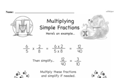 Free Third Grade Fractions PDF Worksheets Worksheet #13