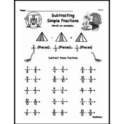 Free Third Grade Fractions PDF Worksheets Worksheet #15