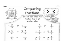 Free Third Grade Fractions PDF Worksheets Worksheet #2