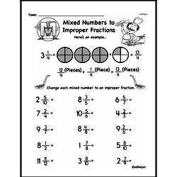 Free Third Grade Fractions PDF Worksheets Worksheet #12
