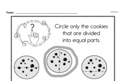 Free Third Grade Fractions PDF Worksheets Worksheet #42