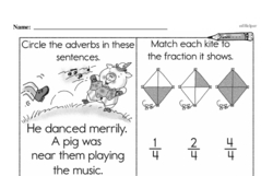 Free Fraction PDF Math Worksheets Worksheet #112