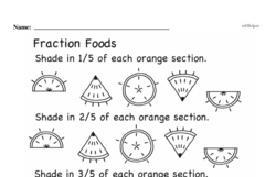 Free Third Grade Fractions PDF Worksheets Worksheet #37