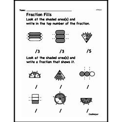 Free Fraction PDF Math Worksheets Worksheet #2