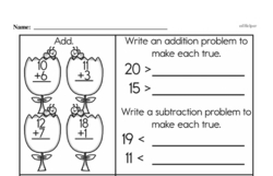Free Fraction PDF Math Worksheets Worksheet #1