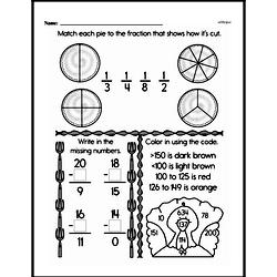 Free Third Grade Fractions PDF Worksheets Worksheet #52