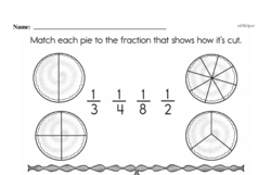 Free Fraction PDF Math Worksheets Worksheet #161