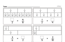 Free Third Grade Fractions PDF Worksheets Worksheet #16
