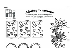 Free Fraction PDF Math Worksheets Worksheet #9